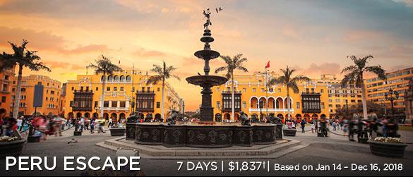 Peru Escape - 7 days, $1,837*