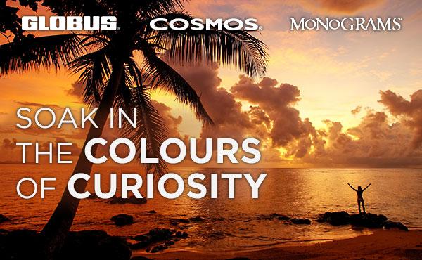 Soak in the COLOURS of CURIOSITY, Globus, Cosmos, Monograms